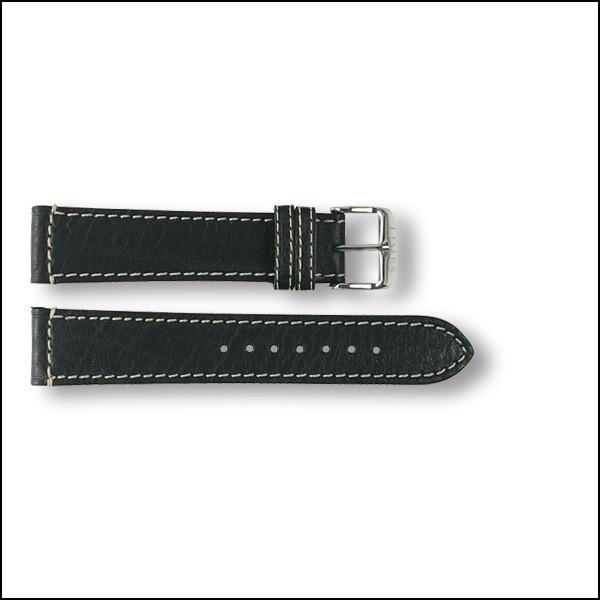 Lederband Aviator - schwarz - 20mm