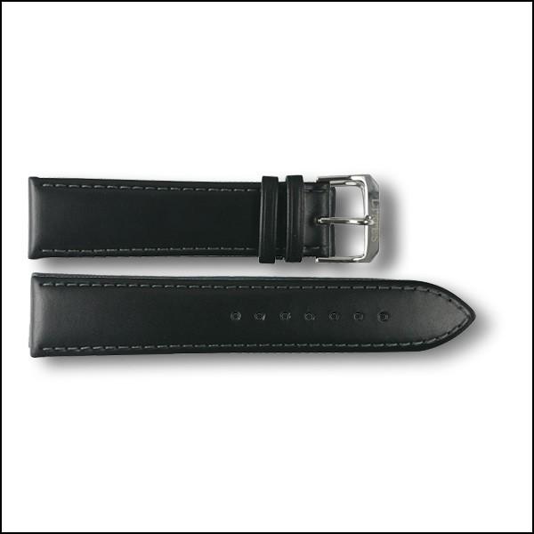 Lederband Chyros - schwarz - 22mm